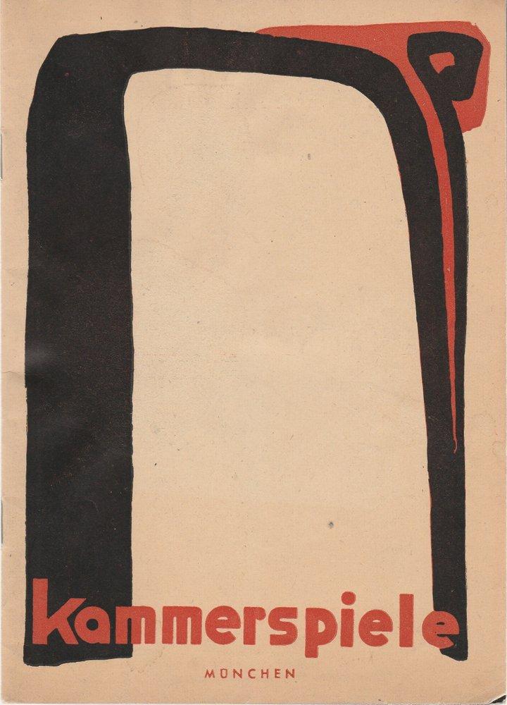 Programmheft Münchner Kammerspiele Spielzeit 1949 / 50 Heft 3