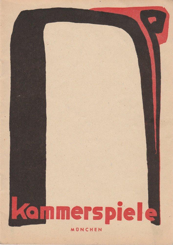 Programmheft Kammerspiele München Spielzeit 1950 / 51 Heft 1