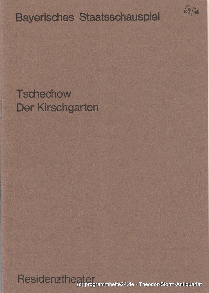 Programmheft DER KIRSCHGARTEN Anton Tschechow Residenztheater 1970