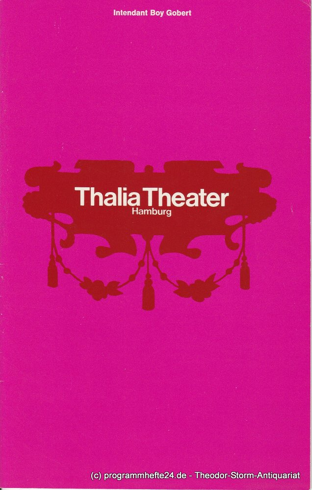 Programmheft Gespenster von Henrik Ibsen Thalia Theater 1970