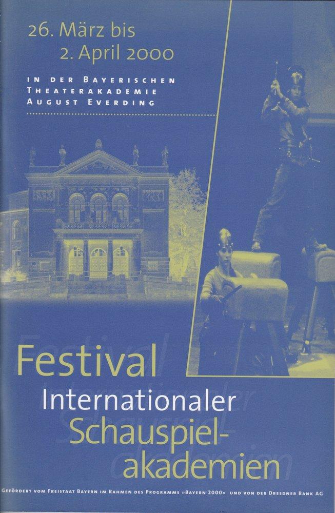Programmheft Festival internationaler Schauspielakademien München 2000