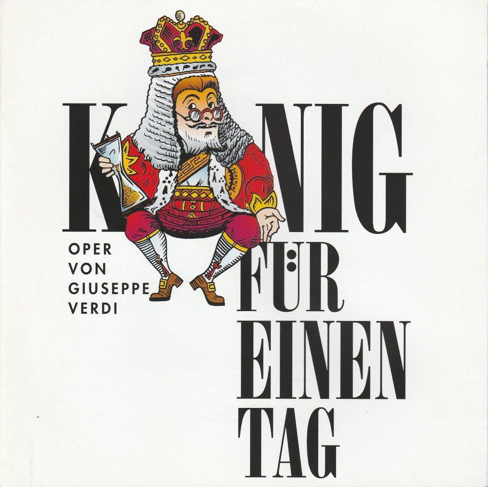 Programmheft KÖNIG FÜR EINEN TAG Allee Theater Hamburg 1998