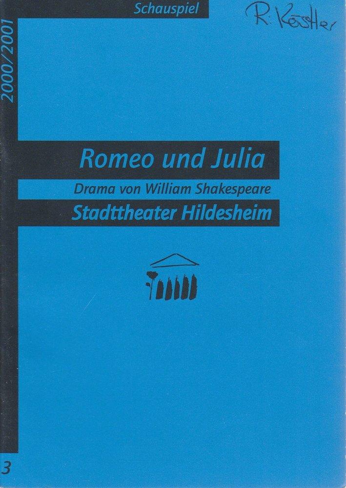 Programmheft William Shakespeare: Romeo und Julia Stadttheater Hildesheim 2000