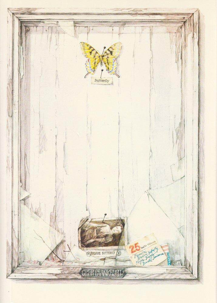 Programmheft Giacomo Puccini: MADAME BUTTERFLY Oper Frankfurt 1980