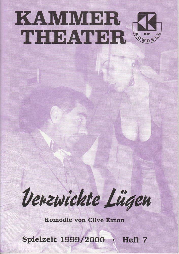 Programmheft Verzwickte Lügen von Clive Exton Kammer Theater am Rondell 2000