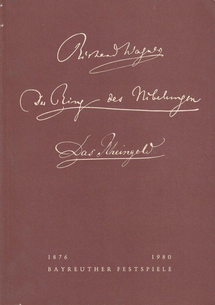 Programmheft IV Das Rheingold Bayreuther Festspiele 1980