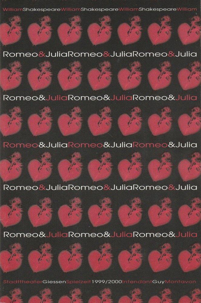 Programmheft Shakespeare Romeo und Julia Stadttheater Giessen 2000