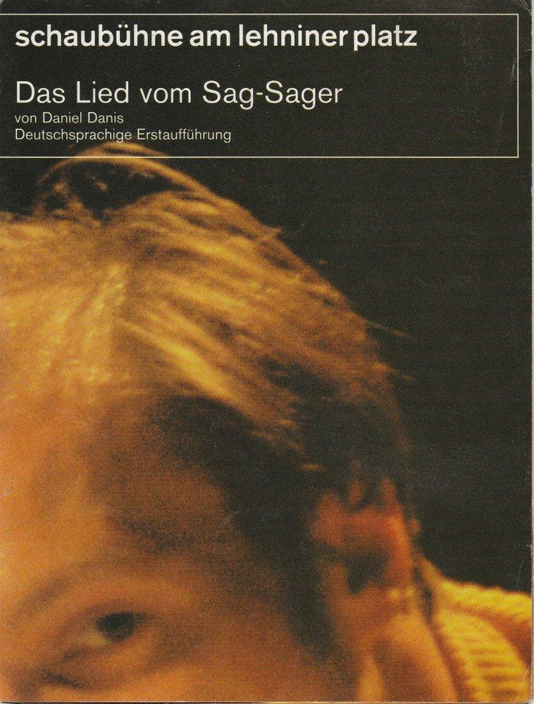 Programmheft Das Lied vom Sag-Sager Schaubühne am Lehniner Platz 2000