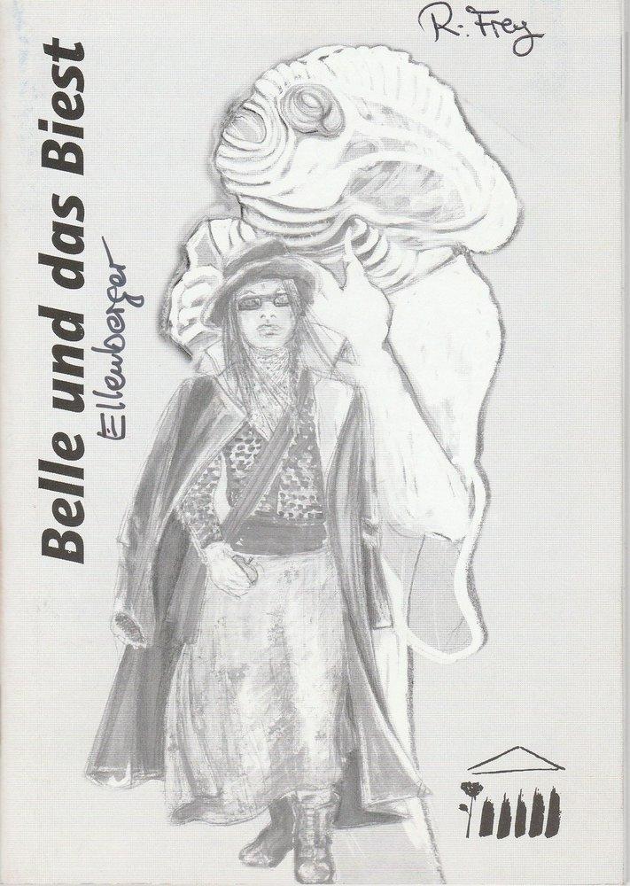 Programmheft BELLE UND DAS BIEST von Barbara Ellenberger Hildesheim 2000