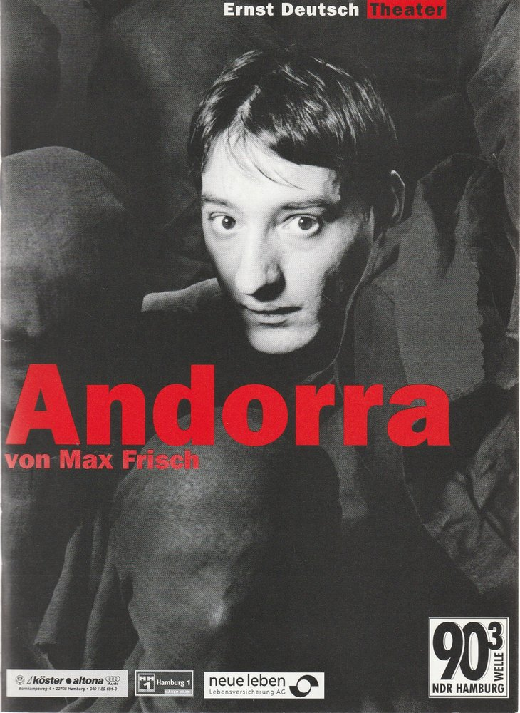 Programmheft ANDORRA von Max Frisch Ernst Deutsch Theater 2000