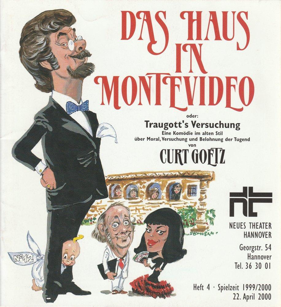 Programmheft Curt Goetz: Das Haus in Montevideo Neues Theater Hannover 2000