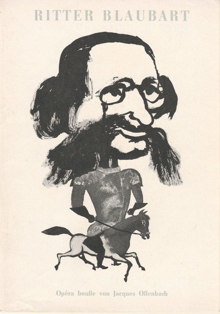 Programmheft RITTER BLAUBART Jacques Offenbach Komische Oper Berlin 1964
