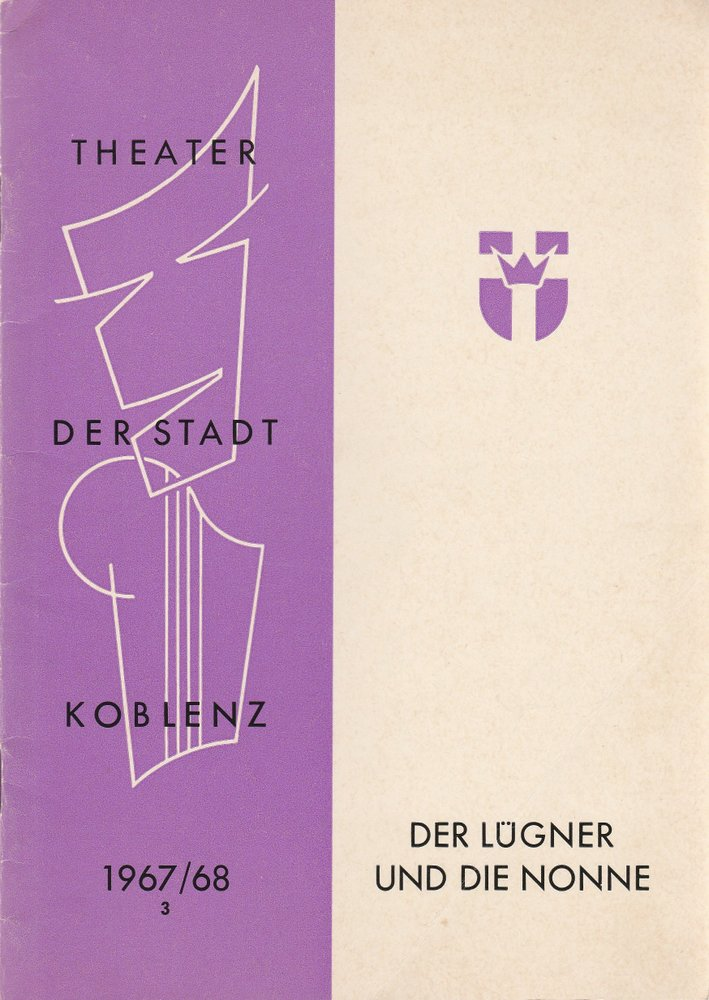 Programmheft Curt Goetz: Der Lügner und die Nonne Theater Koblenz 1967
