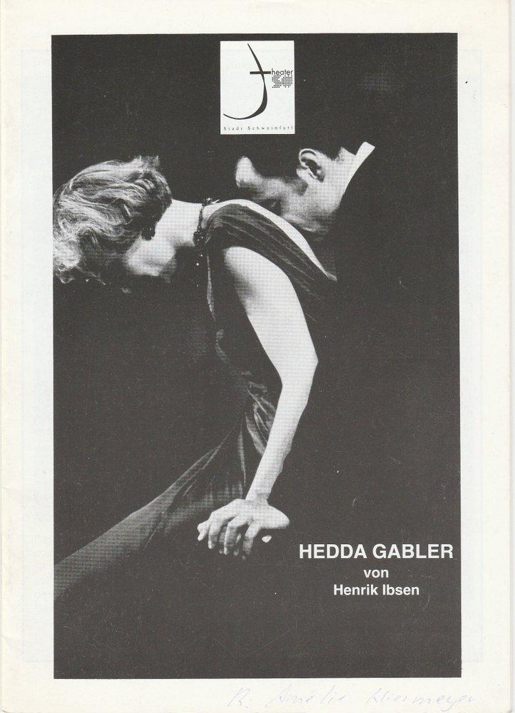 Programmheft Hedda Gabler von Henrik Ibsen Theater der Stadt Schweinfurt 1996
