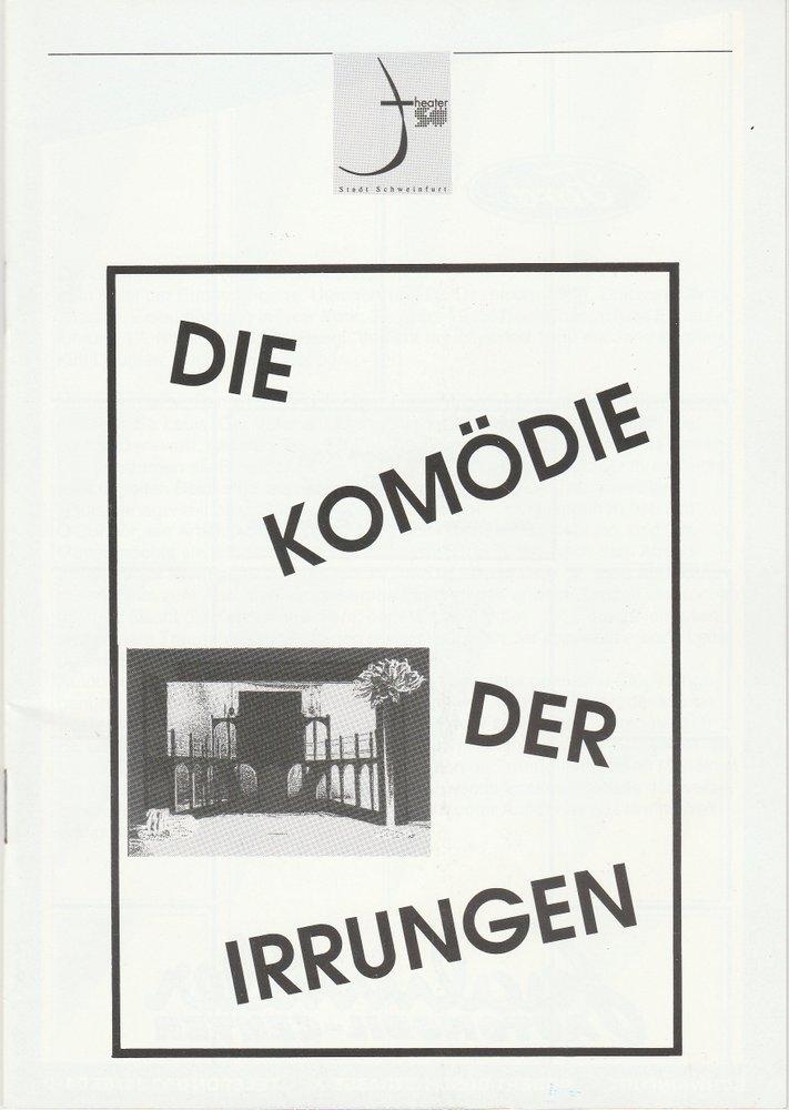 Programmheft Shakespeare: Die Komödie der Irrungen Theater Schweinfurt 1997