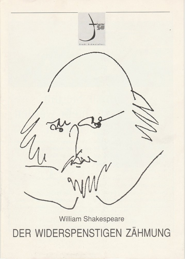 Programmheft Shakespeare: Der Widerspenstigen Zähmung Theater Schweinfurt 1992