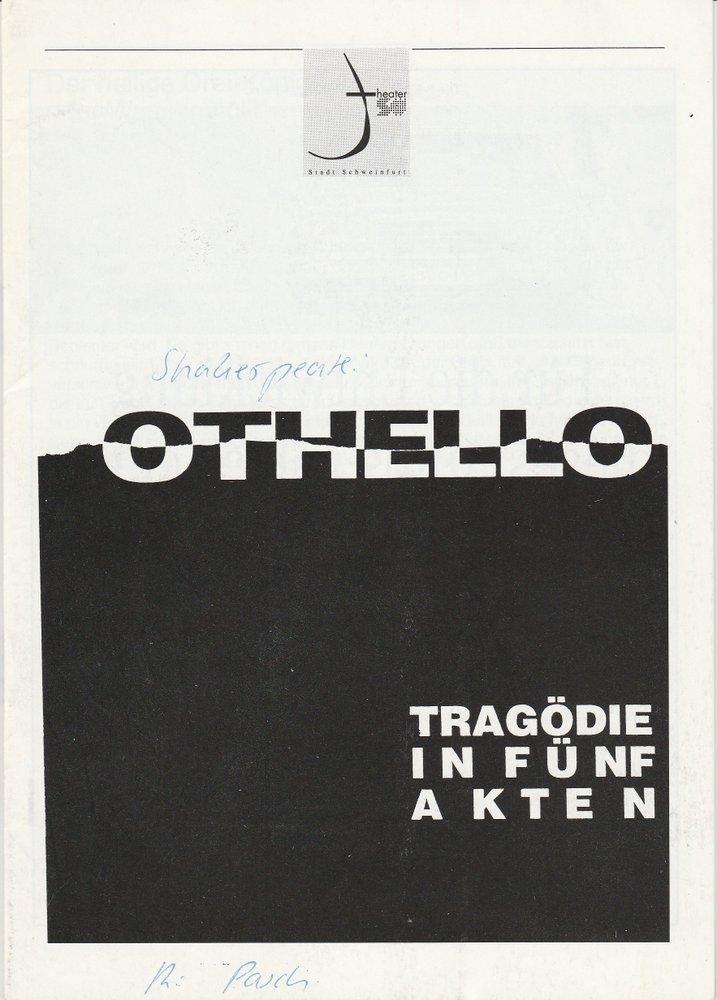Programmheft William Shakespeare: OTHELLO Theater der Stadt Schweinfurt 1995