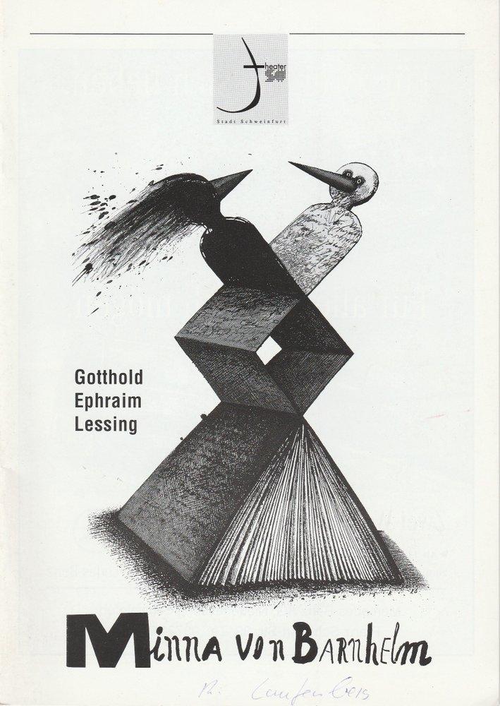 Programmheft Lessing: Minna von Barnhelm Theater der Stadt Schweinfurt 1996