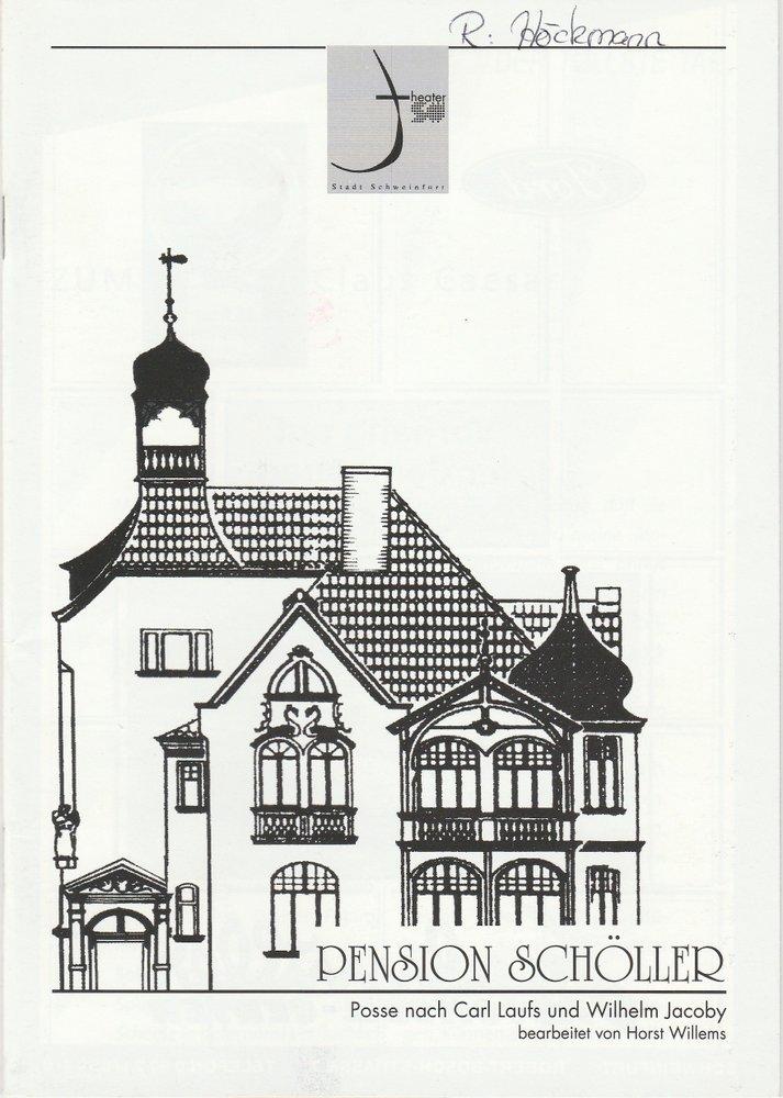 Programmheft Laufs / Jacoby: Pension Schöller Theater der Stadt Schweinfurt 2001
