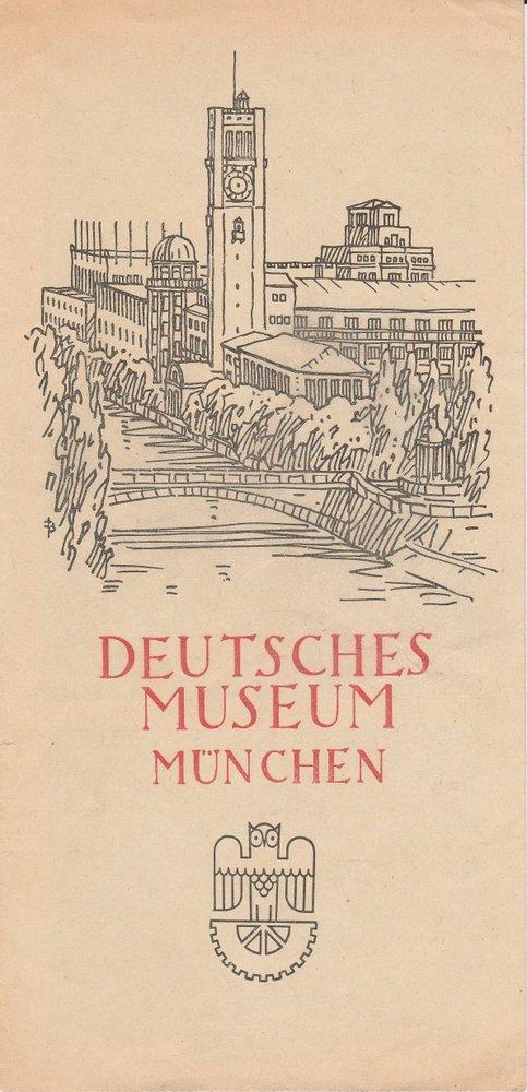 Flyer Deutsches Museum München ( ca. 1955 )