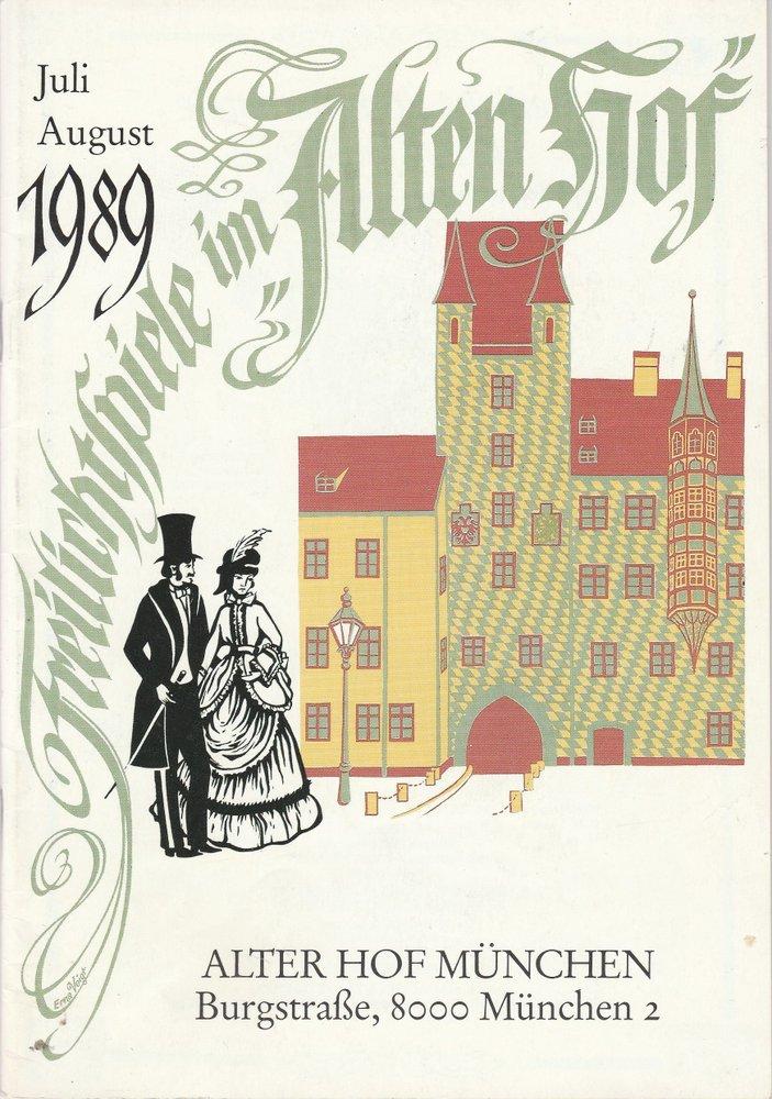 Programmheft Freilicht Sommerspiele im Alten Hof 1989 Ludwig Thoma Theater
