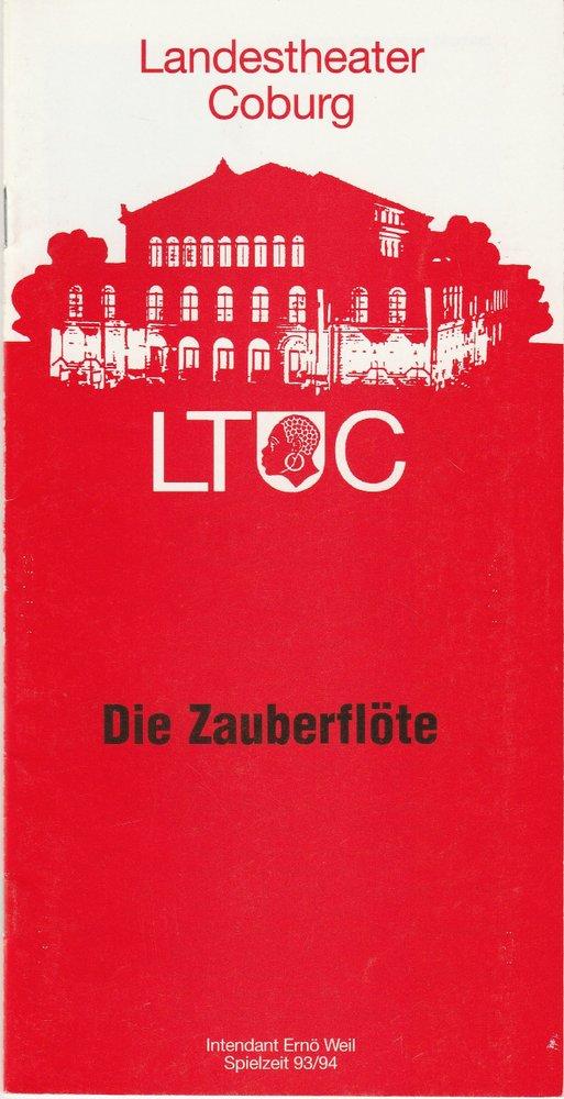 Programmheft Mozart DIE ZAUBERFLÖTE Landestheater Coburg 1993