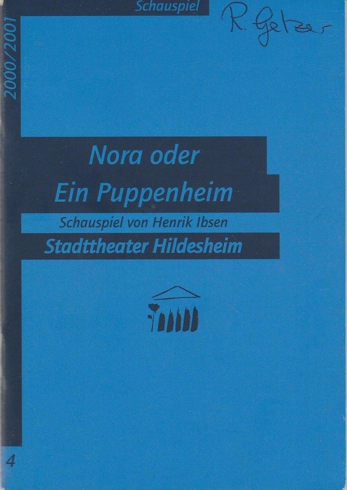 Programmheft Ibsen NORA oder Ein Puppenheim Stadttheater Hildesheim 2000