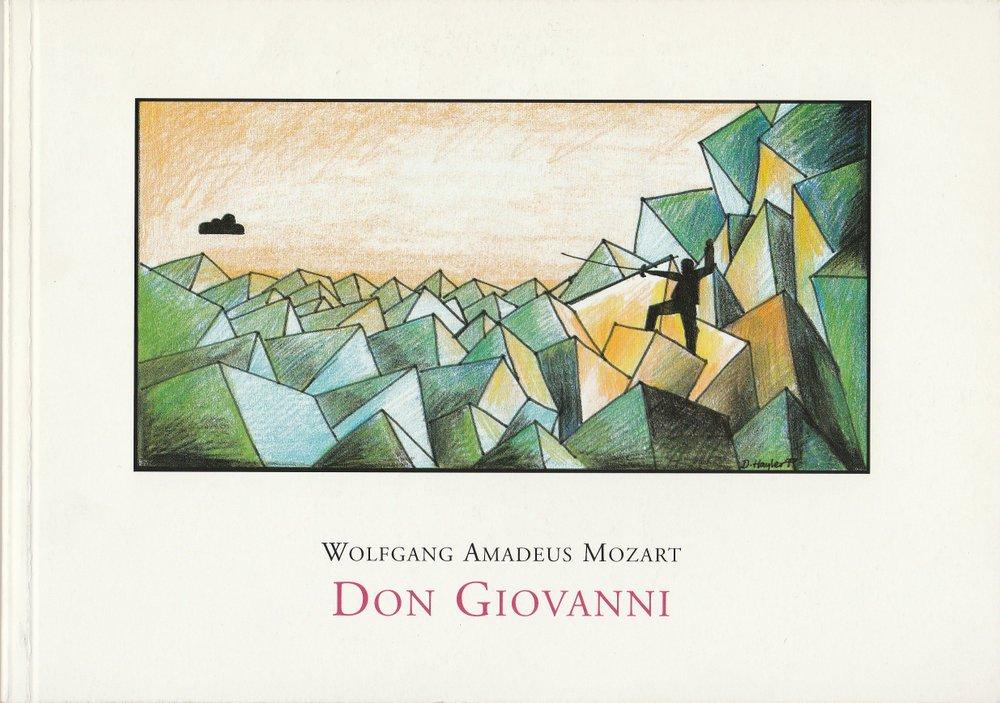 Programmheft Mozart: DON GIOVANNI Prinzregententheater 1999