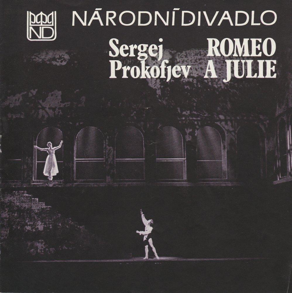 Programmheft Sergej Prokofjev: ROMEO A JULIE Narodni Divadlo Praha 1986