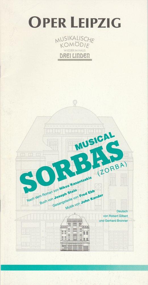 Programmheft John Kander: SORBAS Oper Leipzig 1993