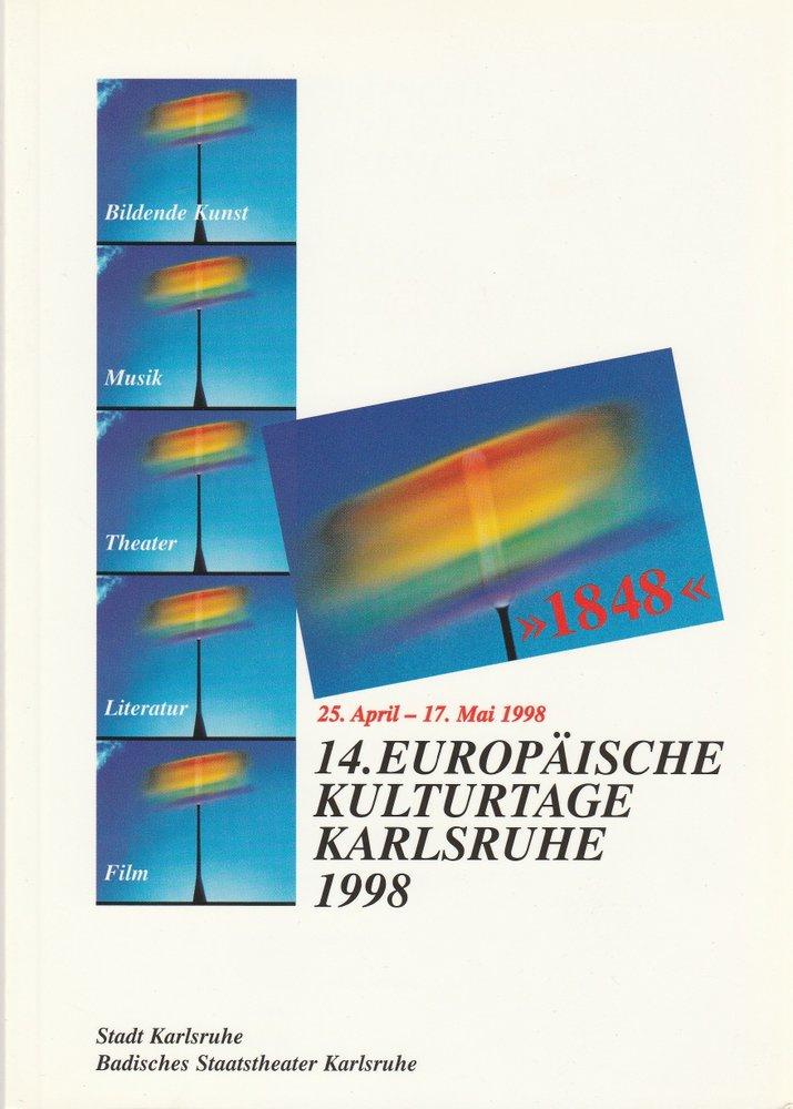 Programmheft 14. Europäische Kulturtage Karlsruhe 1998