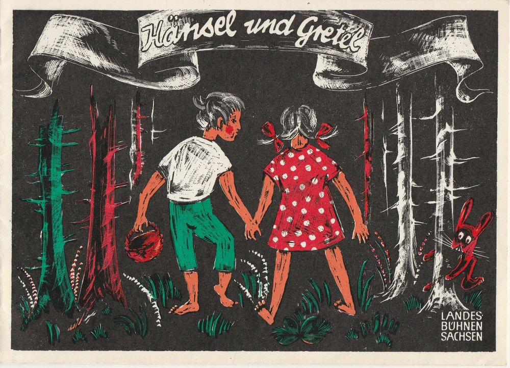 Programmheft Engelbert Humperdinck HÄNSEL UND GRETEL Landesbühnen Sachsen 1985