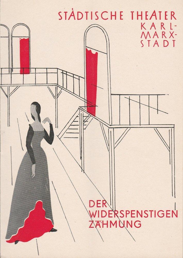 Programmheft W. Shakespeare DER WIDERSPENSTIGEN ZÄHMUNG T.  Karl-Marx-Stadt 1957