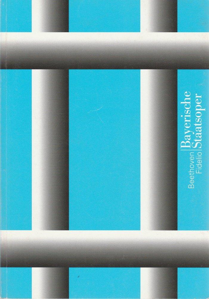 Programmbuch Ludwig van Beethoven FIDELIO Bayerische Staatsoper 1999