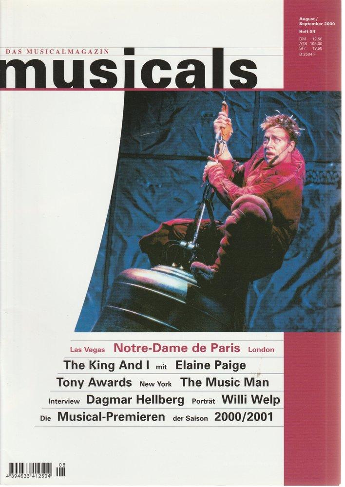 musicals Das Musicalmagazin August / September 2000 Heft 84