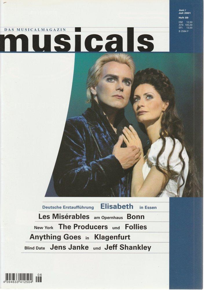 musicals Das Musicalmagazin Juni / Juli 2001 Heft 89