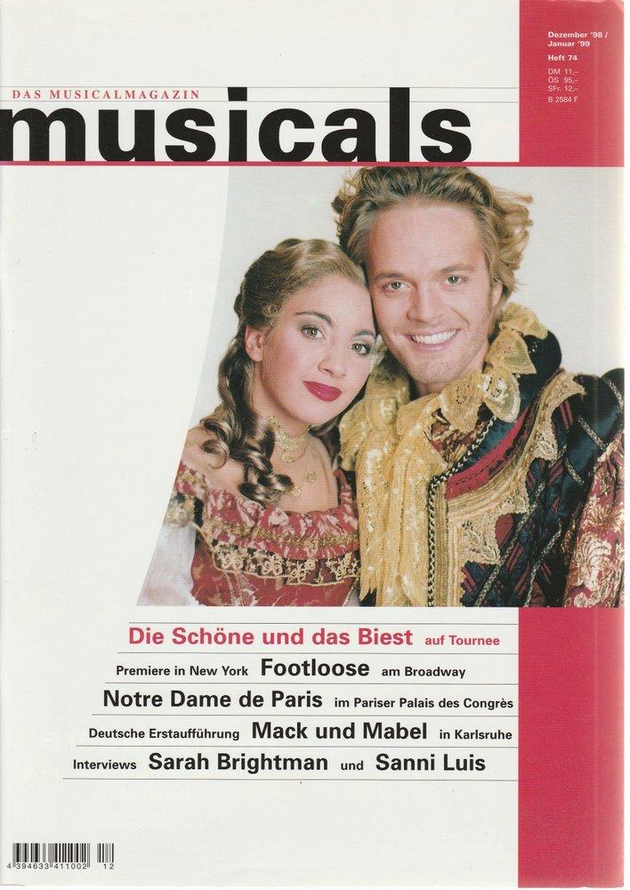 musicals Das Musicalmagazin Dezember 1998 / Januar 1999 Heft 74
