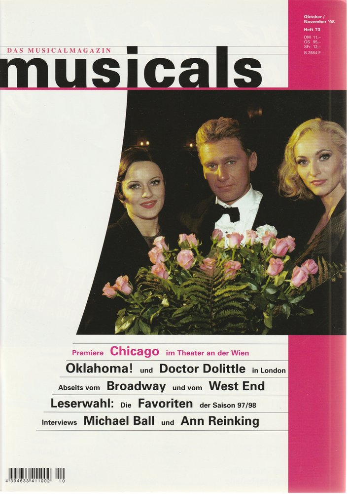 musicals Das Musicalmagazin Oktober / November 1998 Heft 73