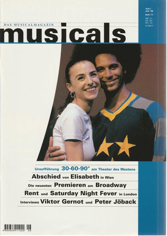 musicals Das Musicalmagazin Juni / Juli 1998 Heft 71
