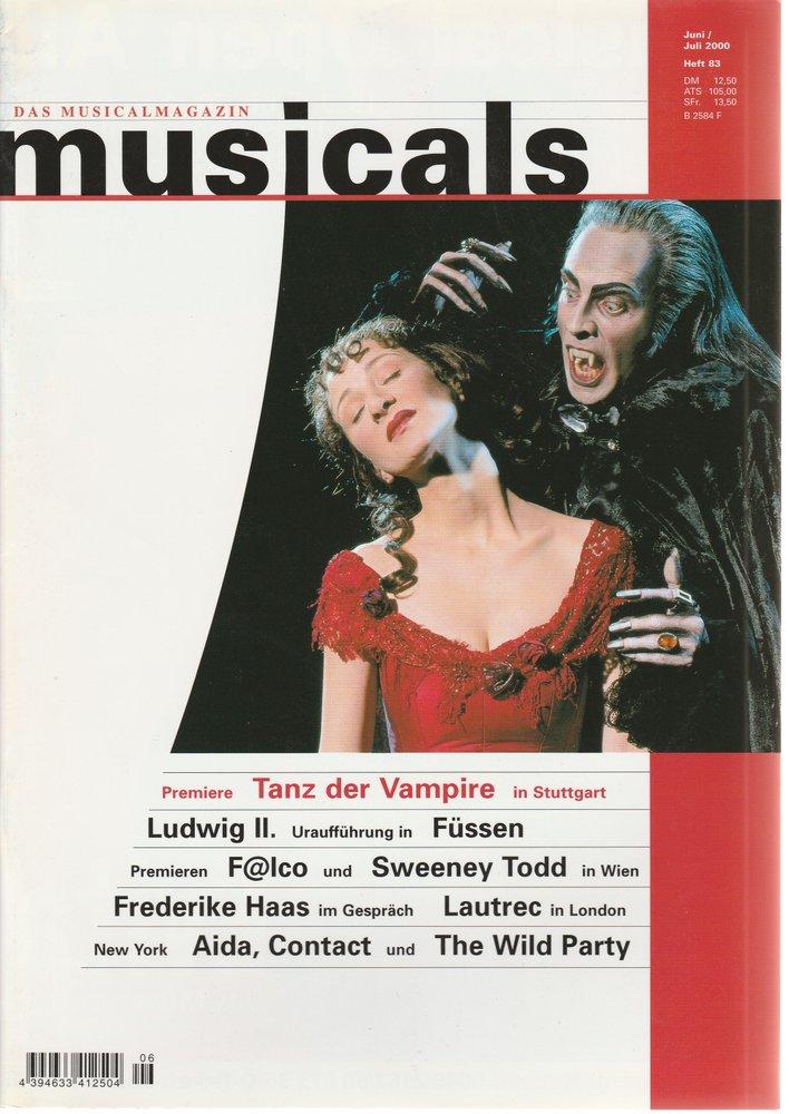musicals Das Musicalmagazin Juni / Juli 2000 Heft 83