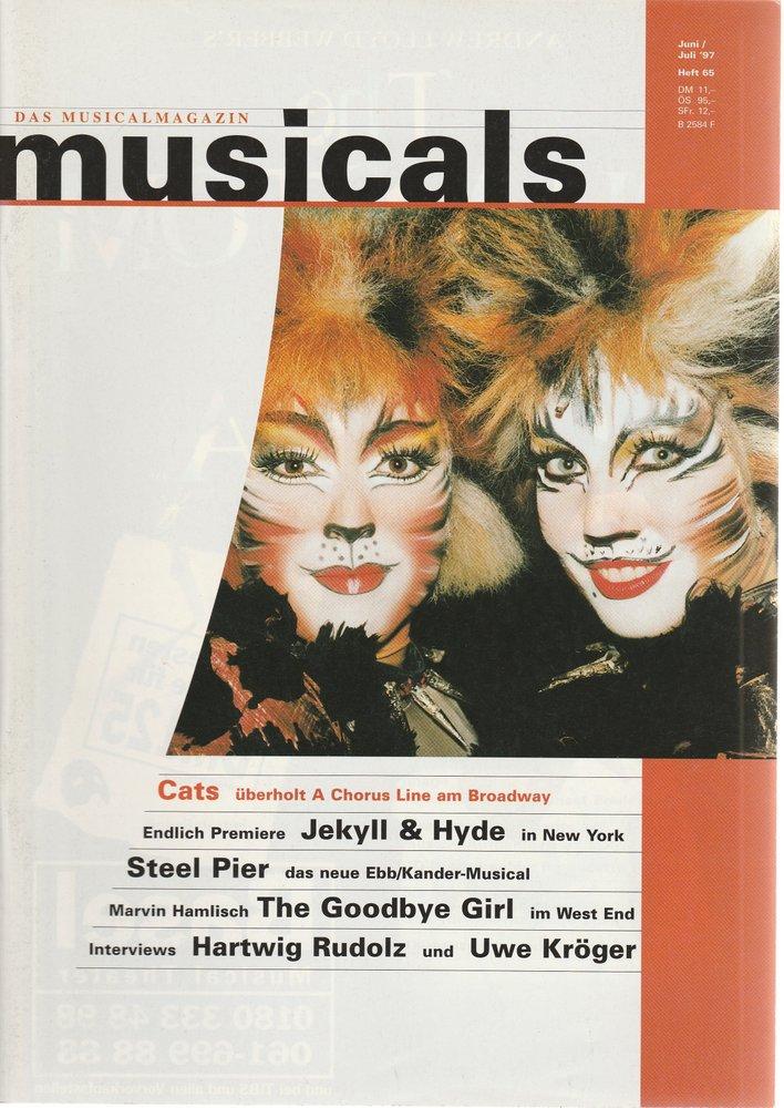 musicals Das Musicalmagazin Juni / Juli 1997 Heft 65
