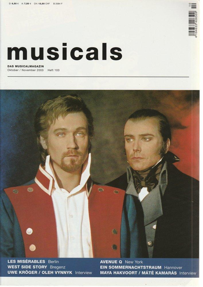 musicals Das Musicalmagazin Oktober / November 2003 Heft 103