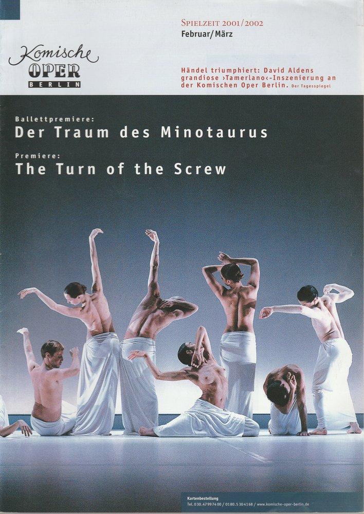Komische Oper Berlin Februar / März Spielzeit 2001 / 2002