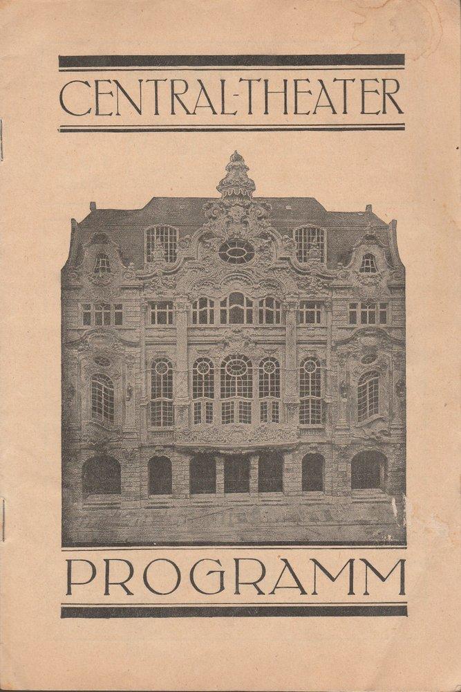 Programmheft DER HERZOG UND DIE SÜNDERIN Central-Theater Dresden 1930