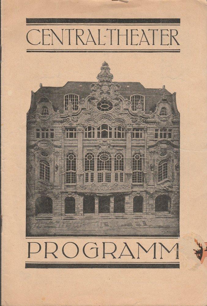 Programmheft Rolf-Röder-Revue GROßE KLEINIGKEITEN Central - Theater Dresden 1930