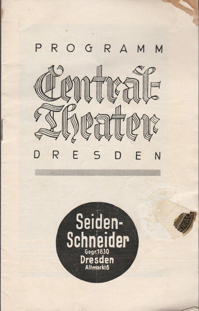 Programmheft DIE DREI MUSKETIERE Central-Theater Dresden ca. 1929