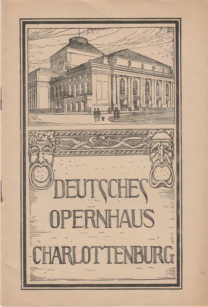 Programmheft HOFFMANNS ERZÄHLUNGEN Deutsches Opernhaus Charlottenburg 1923