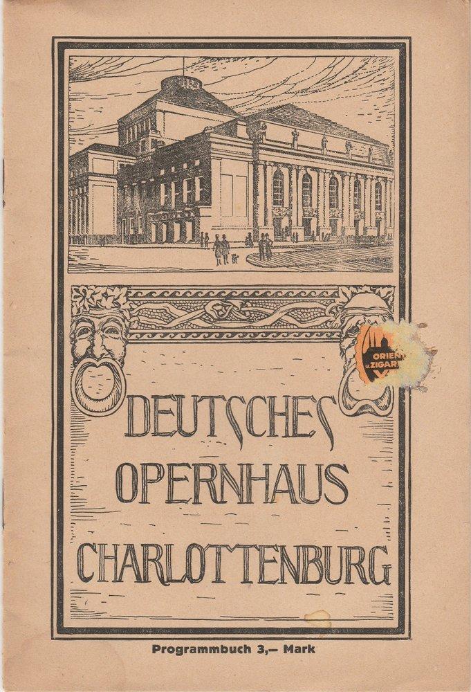 Programmheft Georges Bizet CARMEN Deutsches Opernhaus Charlottenburg 1922