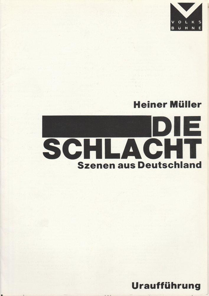 Programmheft Uraufführung Heiner Müller DIE SCHLACHT 1976
