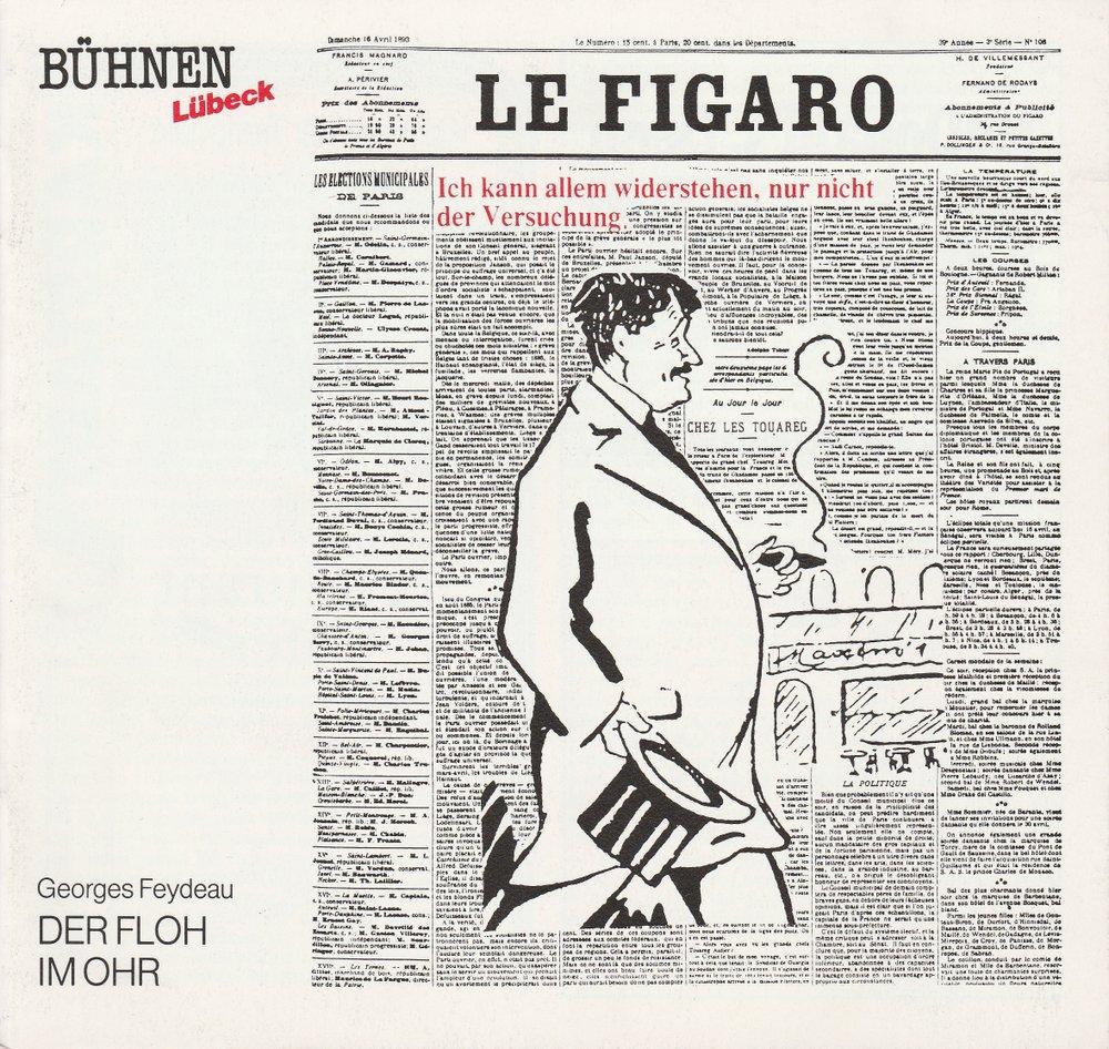 Programmheft Georges Feydeau DER FLOH IM OHR Bühnen Lübeck 1990